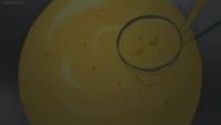 異世界食堂1話についてです。 後半で店主が、コーンの粒があるが故のコーンスープを「コーンポタージュ」と言っていましたが、どういう意味ですか?