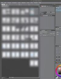 クリップスタジオのこの機能はどうしたら使えますか? 漫画を描きたいと思うのですが、見開きで何ページも表示できるこの方法を教えてください。 ぼかして見にくいかと思いますがよろしくお願いします  私の使用...
