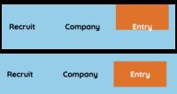 CSSの質問です。 画像を見てください。 上の画像のように、オレンジのdiv(display : inline-block)を なんとか上下に中央寄せしたいと考えました。 とりあえず白文字をオレンジの中央に来るようにだけ変更し...