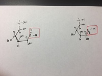 高校化学。鎖状構造のグルコースのアルデヒド基の書き方。  添付ファイルご覧下さい。  アルデヒド基のOの向きですが、どちらも正しいですか?  よろしくお願い申し上げます。