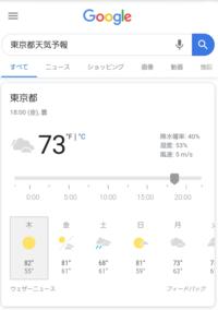 Googleの天気予報が昨日からおかしいんですが皆さんも同じですか? ちなみに今回が初めてではなく過去にも2回ほど同じような事がありました。