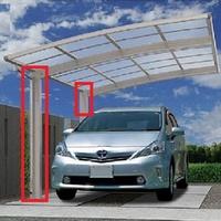 ご自宅にカーポートを所有されている方にお伺いをいたします。 ・ 柱は片側だけなのでしょうか。 それとも両側にあるタイプなのでしょうか。 ・ いかがでしょうか。