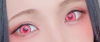 どこのカラコンか分かる方教えてください。  コスプレイヤーのえなこさんが4月24日のLINEブログで載せていたコスプレ写真のカラコンが知りたいです。  赤のようなピンクのような。