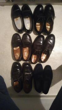 革靴好きな人?どこのメーカーが好きですか?僕はオールデンのコードバンです、今日、久々に磨いたので画像つきです!