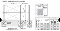 土間コンクリートにフェンス設置時の穴について  例えば添付のようなフェンスを設置する場合、 支柱は、30cm×30cmの穴をあけるということでしょうか? それとも、土間コンクリートの端部分から最低15c...