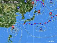 新聞に天気図が掲載されたのは、いつ頃からですか?  高気圧、低気圧、台風、等圧線とか、、、
