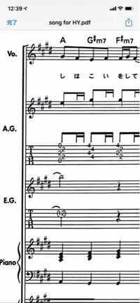 ギターの楽譜について。写真のようにギターの楽譜はおたまじゃくしが省略されていますが何故ですか? また、どこかで表示されている楽譜は実音よりも1オクターブ低く表示されていると書いてあったのですが!この楽譜では1オクターブ上げて考えればいいですか?  例→C3のドとギターの楽譜で表示されていれば本当はC4の音で考える等  また、何か参考になるサイトなどあれば教えて頂きたいです。  よろしくお願い...