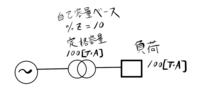 変圧器の定格容量と負荷の関係について質問があります。  図を見てください。 100[V・A]の負荷を、定格容量100[V・A]の変圧器に接続したとします。 変圧器の自己容量ベースの%Zが10%だったとします。  変圧器に送られる皮相電力は、10%引いて90[V・A]でしょうか? または100[V・A]でしょうか?