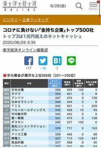 トップ500にもランクインしてない武田薬品工業、経営ヤバいのですか?