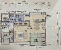 間取り診断をお願いします。 (一階の間取りを添付)一階65㎡  基本は建築士さんが作成しましたが、途中からは営業さんが修正していて、ずいぶん変更しましたが、建築士さんとは話せていません。  今1番の悩みは...