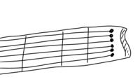 エレキギター 種類について 私の好きなギタリストさんの使っていたギターなのですが、先の方?の弦が揃っているものでした。  私が調べても斜めに弦がついているものしか出てこないのですが、このようなギター(下...