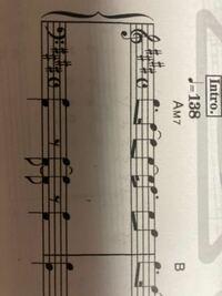 ピアノの素人です。楽譜の読み方がわからないのですが、最初の部分をどう読むか教えて下さい。 よろしくお願いします。