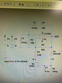 ウィーンブリッジ発振回路を作成しようとしており、以下の回路図を参考にしようとしています。 ですが、発振周波数を調整出来る回路に変更したい場合を考えてみると行き詰まってしまいます。 電子回路に詳しい方、アドバイス宜しくお願いします。