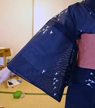 筒袖,着物,筒袖襦袢,大久保信子,肌襦袢,長襦袢,レース