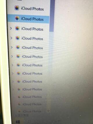 iCloud photos,フォルダ,右クリック,削除,全部空