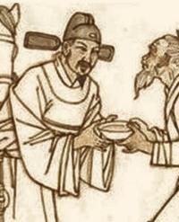 唐の時代の中国の絵を見ると、下図のように2枚のプロペラがついたような帽子をかぶっているをよく見ますが、このプロペラのようなものは何ですか。古代中国の有職故実に詳しい方ぜひ教えて下さい。
