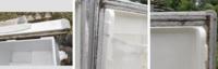 冷蔵庫のゴムパッキンの黒いカビ ゴムパッキン用のカビキラーで落ちますか? それより良い、強力な方法はありますか?  こんな感じです。 倉庫に2年、雨漏りの下に放置してて、カビが生えました。