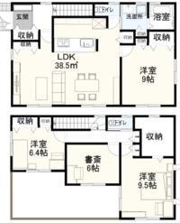 この間取りはどうですか 50代夫婦と子供1人で、1階に寝室と比較的多くの収納スペースが設置されており、老後は基本的に1階で暮らしたいと思っています。 1階の面積は23坪で、1階は16坪で、合わせて39坪です、 バルコニーは20平方メートルです。