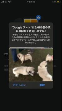 全てのデバイスのiCloud写真から削除されますと言うことはGoogleフォトからも削除されてしまいますか?