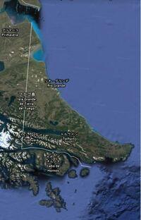 南米大陸南端のフエゴ島が、欧米支配を受けていた地域を思わせる直線をした国境で分割統治されることになった歴史的経緯を教えてください。Wikipediaには載っていませんでした。