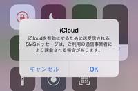 iCloudを有効にするために送受信されるSMSメッセージは、ご利用の通信事業者により課金される場合があります。  というメッセージが出ます。 これを出さないようにするにはどうしたらいいで すか? 先日楽天...