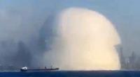 レバノンの大爆発が起こった時、白く半球状にブワッと広がりましたが、あの中身ってなんでしょうか?  https://www.youtube.com/watch?v=KwOmaEjht5Q