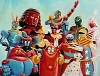 なんで画像の特番には仮面ライダーは呼ばれなかったのでしょう?キカイダーやイナズマン、ゴレンジャーにロボコンまでいるのにライダーだけ仲間外れ。石ノ森先生の代表作なのに納得できません。