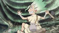 アニメDr.STONEについて このシーンはアニメの何話で見ることができますか?