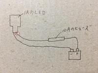 この回路の場合、赤丸のとこでショートしたらヒューズって切れますか? さっき車いじってたらミニ管ヒューズがなかったので余ってた10Aのヒューズをつけました LEDが1Aに対してヒューズが10A でショートした場...