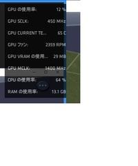 Windows10の画面の右上に添付画像のこれ GPUやCPUの使用率が急に現れて消せない(クリックできない のですが、どうやったら消せますか? 邪魔でしょうがないです よろしくお願いします。