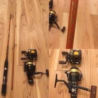 古い釣竿とリールについて。 画像の物はどの魚を釣る用途まで使えるでしょうか? またリールは使えるものあるでしょうか? 1.サビキで小魚類釣りたいです 2.投げサビキ 3.引き釣りでの太刀 魚にも使えるでしょうか  基礎的な知識が全く無く、、 教えて頂きたいです!