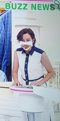 加藤シルビア・アナの口が透明のマスク姿、採点願います。