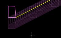Autocad2020、スイープについて Autocad2020を使用し3Dモデリングをしています。 スイープについてですが、  スイープするオブジェクトをピンク色のオブジェクト パスを黄色のライン 基点をオブジェクトとラ...
