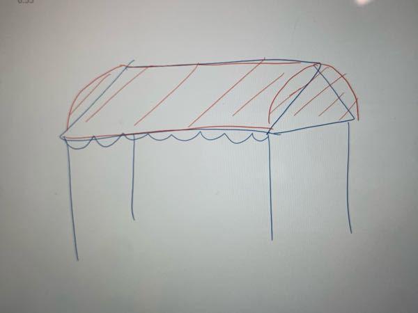 文化祭で学校のテントの屋根を写真のように丸くしたいです ダンボールでできるかな?と思ったのですが難しかったので何か案をください 予算が少ないのでお金はかけれないですが、この丸くした屋根にダンボー...
