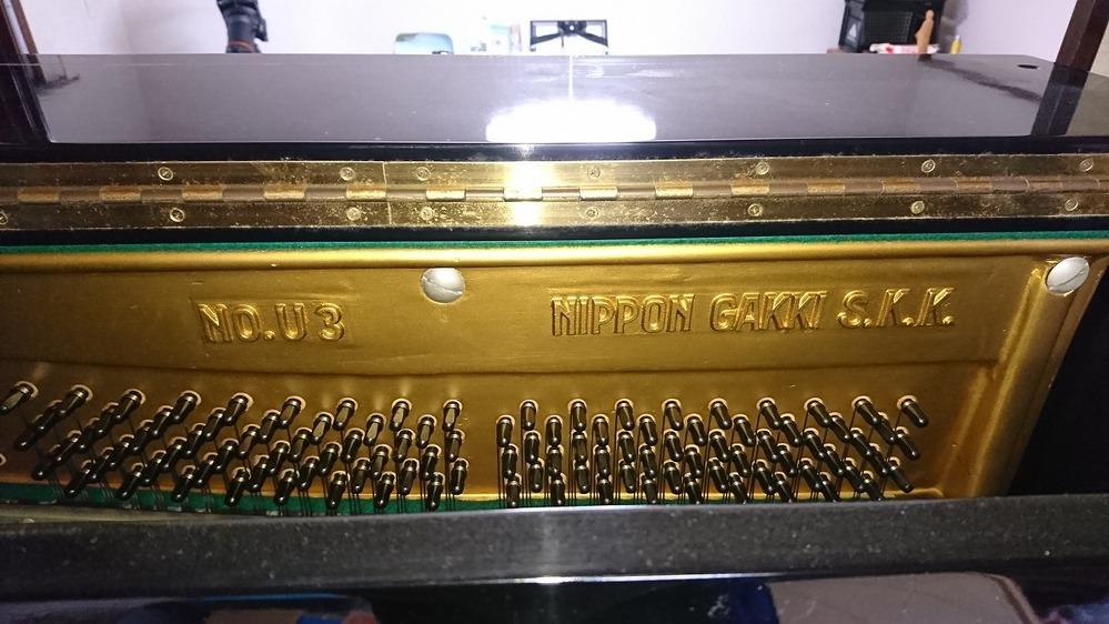 家にある日本楽器のアップライトピアノを捨てたいんですが 何年に製造されたか、写真でわかりますか。