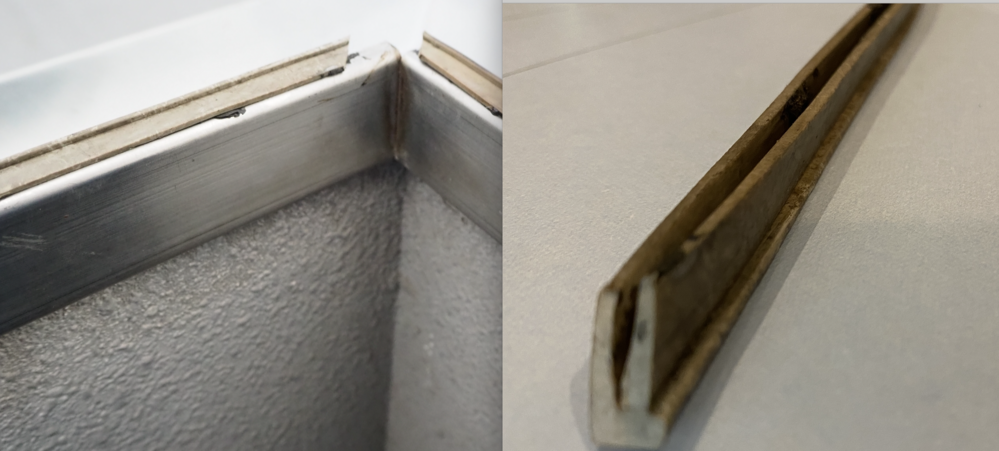 屋上ハッチの蓋についている、ゴム製パッキングについて教えてください。 劣化して外れてしまいました。ハッチのメーカーも解りません。 ステンレスの蓋の下の部分を囲むようについているゴムのパッキングの...