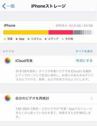 ❮至急❯ iPhoneストレージが写真でいっぱいなんです。 お金などはかけたくありません。 どうすれば容量が減りますか??  iCloud写真を有効にすれば 容量は減るのでしょうか?