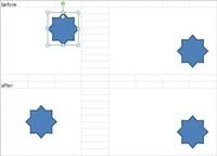 Excel2010 結合セルへの画像の中央配置マクロ  エクセルにて結合したセルの中央に画像を配置するマクロを探していたところ 下記のマクロを見つけました。 しかしながらこのマクロではシート内のすべての画像が中央配置されてしまうので 選択している画像だけを中央配置にするようにしたいのですがどのようにすればよいでしょうか? 添付画像のような動きにしたいです。   Sub 画像中央...