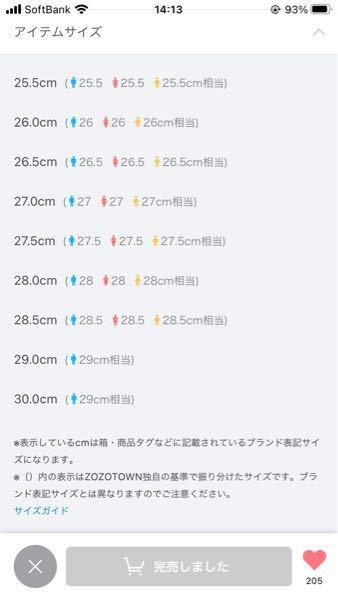 ZOZOTOWNでエアフォース1 highのサイズが30.0cmで29.0相当と表記されているのですがどういうことですか?