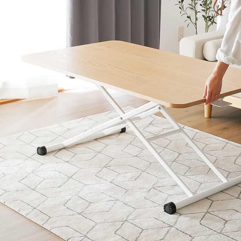リフティングテーブルの高さを上げるためにはどのような方法があるでしょうか? 最大まであげましたが、椅子に対して高さが足りない状態です。 テーブルは参考画像のように4本脚ではありませんが、コンクリ...