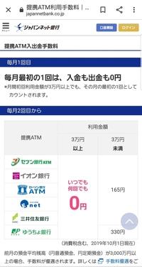 ゆうちょ銀行からジャパネット銀行に45000円送料すると、手数料440円とられました。提携ATMは、手数料無料ではないのですか?