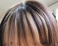 ブリーチした髪を元に戻したい。 私は先月初めてブリーチをしました。 顔周りと前髪のインナー部分です。 ブリーチしたあと色を入れなかったので金髪状態です。 だんだん最初よりも黄色くなってきて飽きてきたので前髪のインナーだけでも元に戻したいなと思っています。 この場合前髪だけ部分的に色を染めることって出来ますか?やはり全体を染めた方がいいのでしょうか。 また、ブリーチした髪を暗く染めてもまた色が...