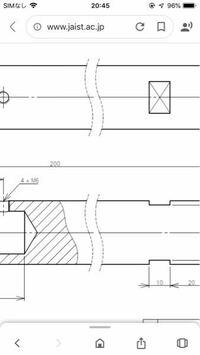 この図面の真ん中にある波線はどういう意味があるのでしょうか。 初心者なので教えてもらえると助かります