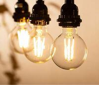 8畳のリビングをLED電球に変えよう思っています。電球は電球色1800kの20wを3個吊るし、後は間接照明で考えています。裸電球には慣れているのでシェードは付けません。昼間は太陽光が良く入る部屋なので夜の話にな...