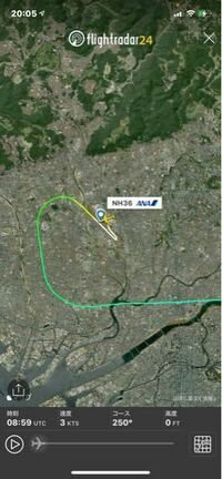 伊丹から羽田に行く飛行機でASUKA4.SHTLEでフライトプランを入力すると離陸して左旋回をすると空港の上を通るはずなんですが全ての飛行機が空港より下を通って飛行しています。なんででしょうか?