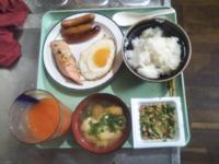 皆さん朝ごはんはなんでしたか?…僕は「大辛塩鮭と片目シャウエッセン納豆油揚げの味噌汁野菜ジュース」でした 美味しかったです♥。