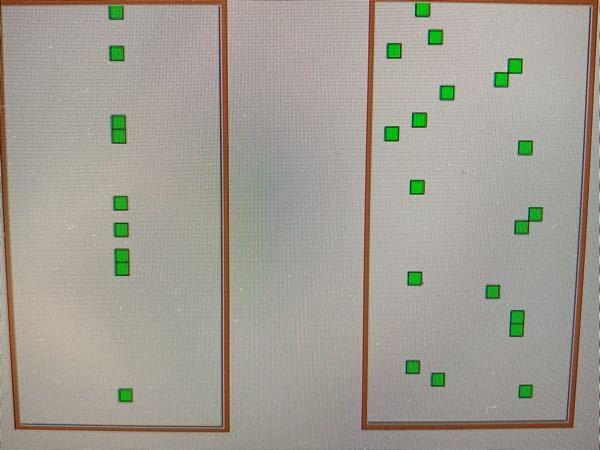 Pythonについて質問があります 以下のコードを実行すると左側の様な実行結果になります。右のような実行結果にしたいのですが熟考したのですがよく分かりません。どのようにコードを変えればできますか...