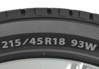 ヤフオクで中古タイヤを探しています。フロントの2本を替えたいのですが、図で言う93Wの値は前後で異なっていても大丈夫でしょうか?