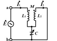 この回路で、端子a.bに正弦波交流電圧を・Eを加えてCを加減して2次電流・I₂を0にすることができた。 このときのCの値から・Eの周波数を求める式を導いてほしいです。よろしくお願いします。