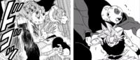 """『漫画ドラゴンボール超』 モロ編のパワーアップしたブルー進化のベジータと、力の大会時の""""身勝手の極意""""(銀髪)状態の悟空を比べた場合、どちらが強さなど上なのでしょうか?"""